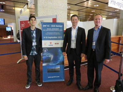 Levy Costa, Stephan Brüske and Berthold Bekendorf at the EPE'15 in Geneve